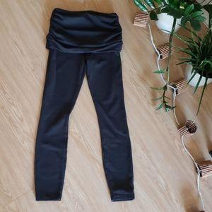 Prana yoga fold over waist full length leggings